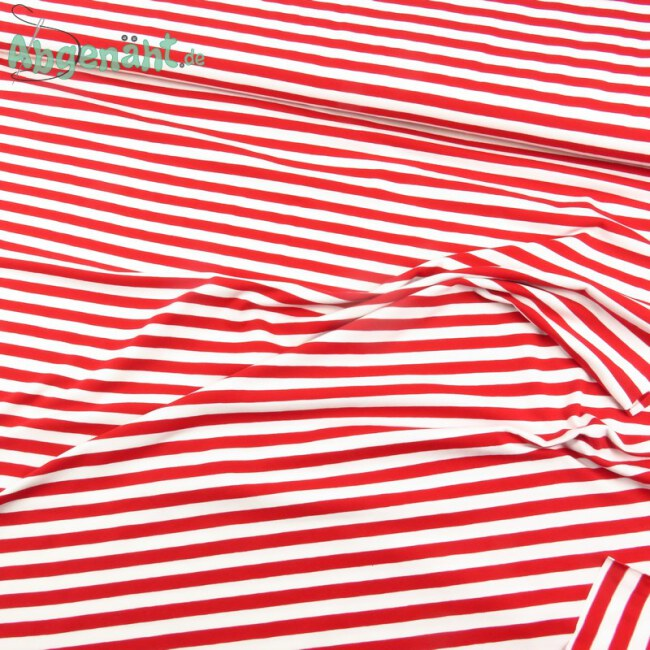 Jersey Blockstreifen Rot Weiß Ballen