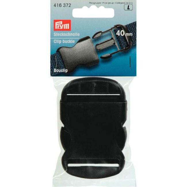Steckschnalle   40mm   Schwarz   Kunststoff   Prym