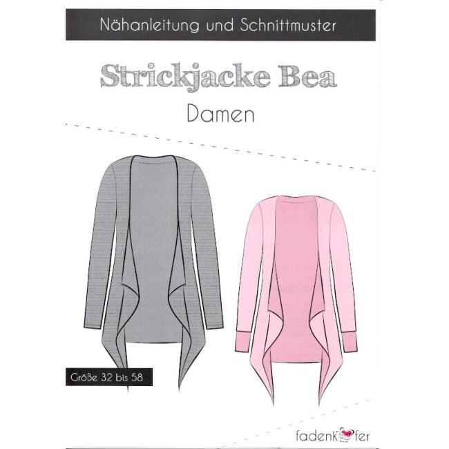Papierschnittmuster Strickjacke   Bea   Damen von Fadenkäfer deckblatt