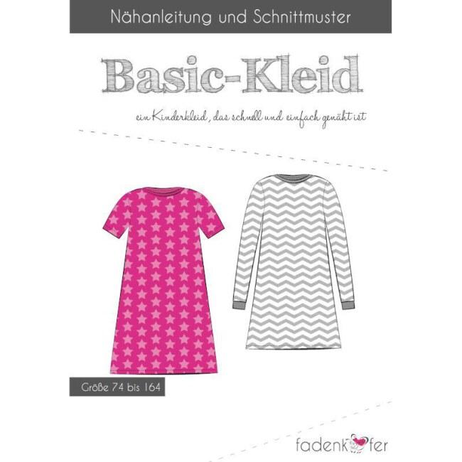 Papierschnittmuster | Basic-Kleid Kinder | Fadenkäfer vorderseite