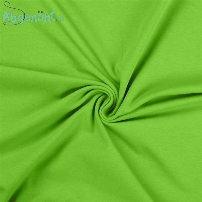 Jersey - Baumwolljersey Uni Lime Ballen