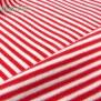 Jersey Ringelstreifen Rot Weiß Nahaufnahme