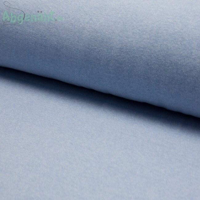 Bündchen | Bündchenstoff | Hellblau meliert | STANDARD 100 by OEKO-TEX®