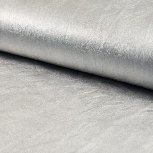 Schimmerndes Kunstleder | Space Leather | Silber