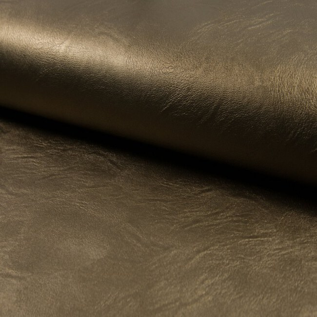 Schimmerndes Kunstleder | Space Leather | Bronze Altgold