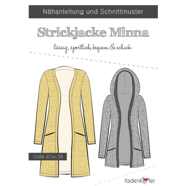 Papierschnittmuster Strickjacke   Minna   Damen von Fadenkäfer Vorderseite