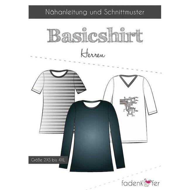 Schnittmuster - Papierschnittmuster   Basicshirt   Herren von Fadenkäfer deckblatt