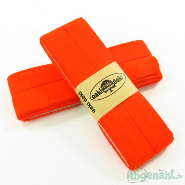 Viskose-Jersey Schrägband | 40/20 | Orange | Oaki Doki