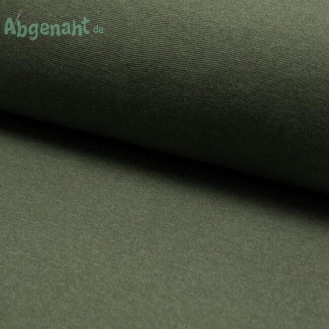 Bündchen | Bündchenstoff | Khaki Meliert | STANDARD 100 by OEKO-TEX®