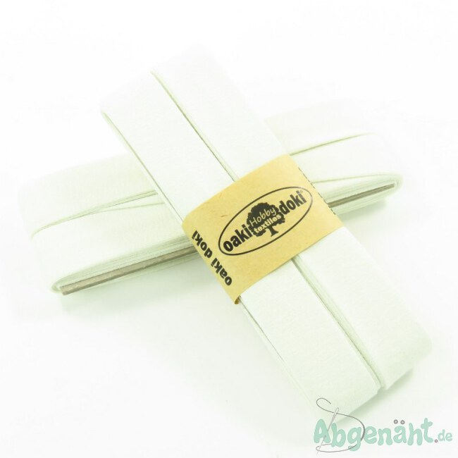 Viskose-Jersey Schrägband   40/20   Creme   Oaki Doki