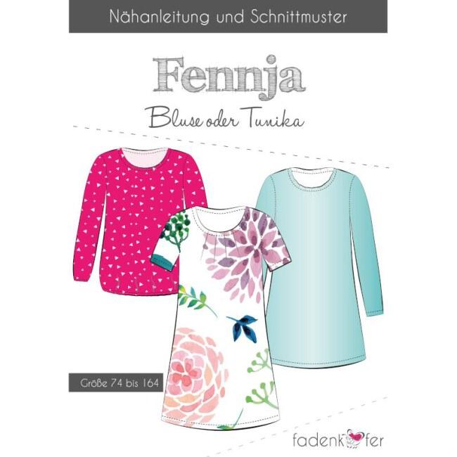 """Papierschnittmuster Bluse oder Tunika """"Fennja"""" Kinder von Fadenkäfer"""