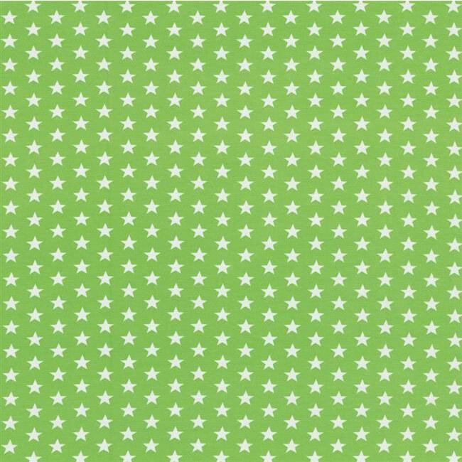 Baumwolljersey kleine Sterne 1cm hellgrün Swafing