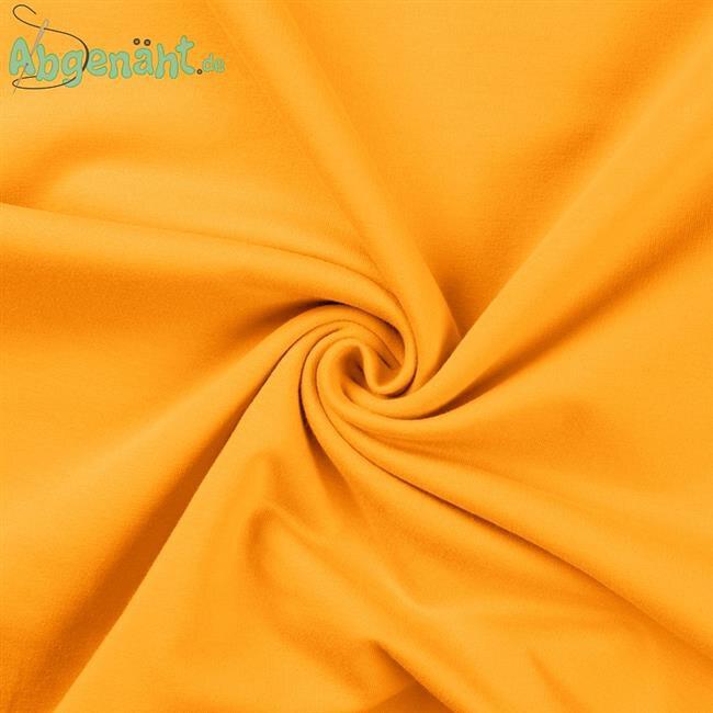 French Terry Sommersweat in Uni Gelb als Ballen