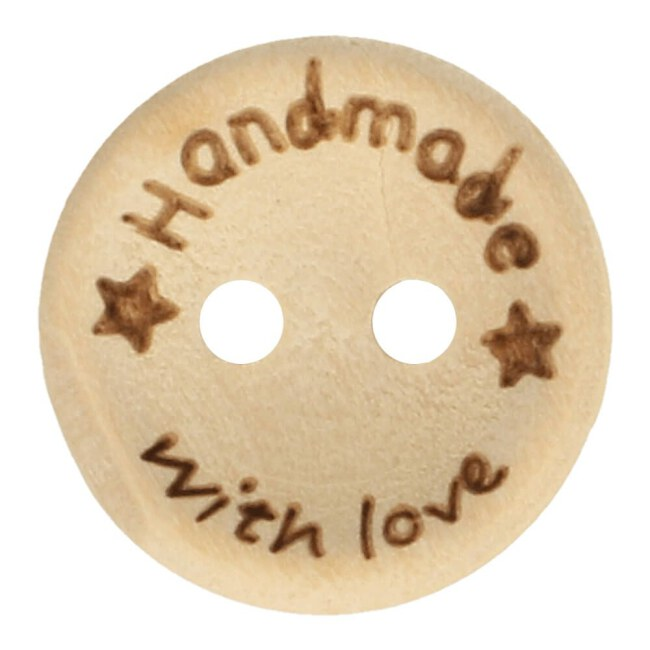 Knopf - Holzknopf | Handmade with Love | 15mm