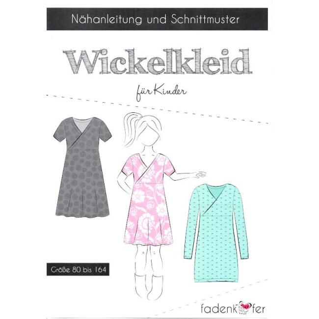 Papierschnittmuster Wickelkleid | Kinder | Fadenkäfer